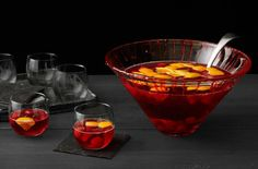 Bite Night: How to Throw a Vampire-Themed Party from #FNMag. Tip: Start with a Bloody Punch Bowl.