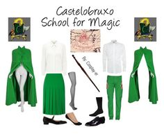 """Castelobruxo School of Magic"" by cosplay-er ❤ liked on Polyvore featuring Eastex, Armani Collezioni, Hobbs, Kennel + Schmenger, Falke, Wolford, Cédric Charlier and Armani Jeans"