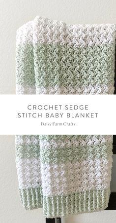 Crochet baby blanket 387661480422241798 - Free Pattern – Crochet Sedge Stitch Baby Blanket Source by Crochet Baby Blanket Free Pattern, Crochet Baby Blanket Beginner, Free Crochet, Baby Blanket Knit, Crochet Stitches Free, Chunky Crochet, Crochet Afghans, Crochet Blankets, Crochet Crafts