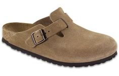 birkenstock boston jasper suede soft footbed  $126.00  Imitated by many, our original classic boston jasper suede soft footbed clog is versatile for men, women and kids. Going strong after 30 years, this clog is a wardrobe basic year round. Enjoy the closed-toe comfort and support. Features an adjustable strap for fit