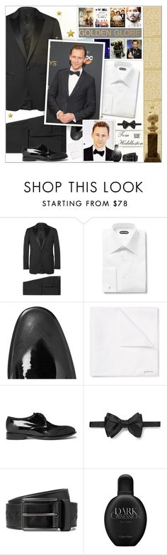 """Golden Globe Awards : Tom Hiddleston"" by alves-nogueira ❤ liked on Polyvore featuring Lanvin, Tom Ford, Alexander McQueen, Bottega Veneta, Calvin Klein, men's fashion and menswear"