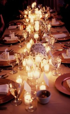 Candlelit Intimate Winter Wedding Reception