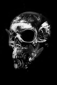 FANTASMAGORIK® METALIC SKULL FACE 2 by obery nicolas, via Behance