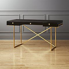 Avalon Hi-Gloss Black Desk