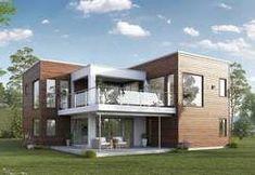 Blink-Hus Hustypen Haugesund, et mordene funkishus hus Rich Home, Kit Homes, Home Fashion, Exterior Design, Future House, House Plans, Shed, Outdoor Structures, Mansions