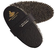 brush for horses with horsehair Haas Cavaliere body
