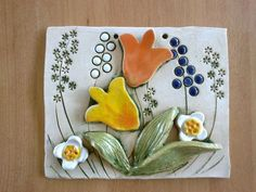Primary School Art, Cement Art, Clay Art Projects, Clay Tiles, Slab Pottery, Tile Art, Clay Creations, Ceramic Art, Christmas Crafts