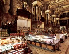 The food halls at Eliseevsky Gastronome, Moscow