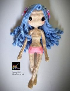 Crochet Doll Pattern Kallie 凱莉