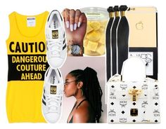 """""""✨today✨"""" by aribearie ❤ liked on Polyvore featuring Moschino, adidas Originals, NARS Cosmetics and MCM"""