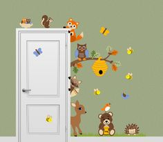 Forest Friends Animal Decal Honey Bear Fox by onehipstickerchic, $59.95