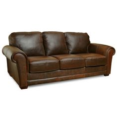 brown leather couch/ sorta like my couch & chair for the office.