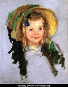 Sara In A Bonnet - Mary Cassatt