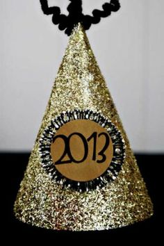 Diy a glitter new years eve party hat