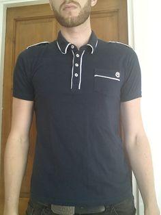 Men's Medium Blue Polo shirt - Unsung Hero   eBay