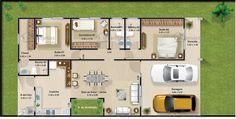Planta a layout 99 Home Design Plans, Plan Design, Design Design, Small House Plans, House Floor Plans, Craftsman Floor Plans, Modern Mansion, House Blueprints, Suites