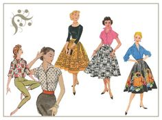 1950's fashion - Mom had some skirts like this, my sister's and I used them for dress up in the 60's!