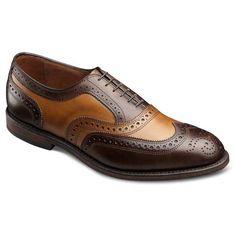 Brown/Walnut Broadstreet - Wingtip Lace-up Oxford Men's Dress Shoes by Allen Edmonds