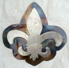 Fleur de Lis - Raised Metal Art Sculpture