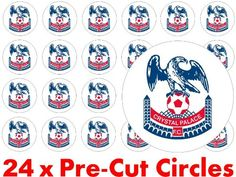 24 x 38mm PRE CUT Precut Crystal Palace FC The Eagles Football Club Team Emblem Badge Logo Fairy Muffin Cup Cake Toppers Decoration Edible Rice Wafer Paper. . http://www.champions-league.today/24-x-38mm-pre-cut-precut-crystal-palace-fc-the-eagles-football-club-team-emblem-badge-logo-fairy-muffin-cup-cake-toppers-decoration-edible-rice-wafer-paper/.  #bank holiday #GBP #PRE CUT Precut Crystal Palace FC The Eagles Football Club Team Emblem Badge Logo Fairy Muffin Cup