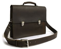 This Classic Handmade Messenger Bag is one of our absolute finest, featuring a gusset, faux buckles durable leather, & like all of our bags Made in the USA.