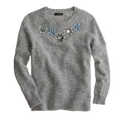 Jeweled Donegal sweater - sweaters - Women's new arrivals - J.Crew