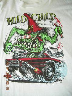 Ed Big Daddy Roth Rat Fink Hot Rod Creation Wild Child Adult T Shirt