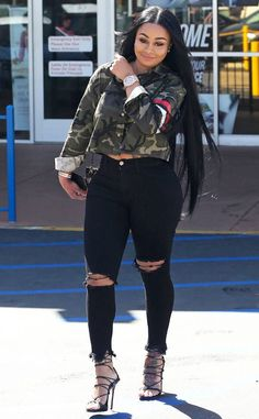 Blac Chyna from The Big Picture: Today's Hot Photos Long hair, don't care! The reality star is spotted arriving at the Van Nuys Courthouse with long, straight locks.