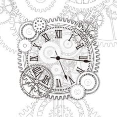 gears clocks drawing - Google Search