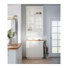 IKEA - BODBYN, Deur, 40x80 cm, ecru, , De BODBYN deur heeft een lijst en een facet geslepen paneel wat de deur een onderscheidend, traditioneel karakter geeft. De roomwitte kleur zorgt voor een keuken met een lichte, warme uitstraling.Gelakte deuren zijn glad en naadloos, vocht- en vlekbestendig en zeer eenvoudig schoon te houden.Gratis 25 jaar garantie. Raadpleeg onze folder voor de garantievoorwaarden.Het deurtje kan links of rechts worden afgehangen.