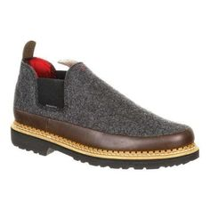 Men's Georgia Boot GB00213 4in Giant Pendleton Romeo Shoe Grey Wool/Full Grain