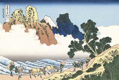 【楽天市場】日本のお土産・贈り物に高品質の復刻浮世絵葛飾北斎「身延川裏不二」(富嶽三十六景):浮世絵のアダチ版画