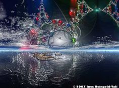 "Saatchi Art Artist Ines Reingold-Tali; , ""Aurora Borealis by Ines Reingold-Tali"" #art"