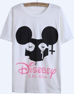 White Short Sleeve Disney Rabbit Print T-Shirt - Sheinside.com