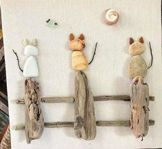 102 diy project and decoration ideas to do with kids page 88 102 Bastel- und Dekorationsideen rund ums Kind Seite 88 Source by . Stone Crafts, Rock Crafts, Arts And Crafts, Diy Crafts, Decor Crafts, Pebble Pictures, Art Diy, Driftwood Crafts, Sea Glass Art