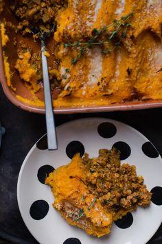 Shepherd's Pie mit Süßkartoffeln und Linsen, Pie Rezepte, Backen, Süßkartoffeln überbacken, mit Linsen kochen