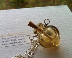 Lampwork Vessel * Message in a Bottle * Hollow by TurtleBeadsStudio --