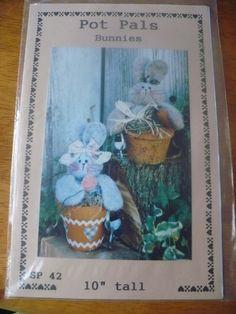 Bunny Pot Pals Pattern By Dianna Marcum Publications | eBay