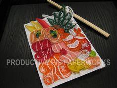 Chirashi (Sashimi on Rice) Quilling