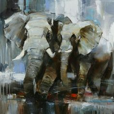 """You can buy original art painting - Animal Painting """"THE OUR SUMMER"""" by artist Tetiana Bondareva in online art gallery Jose Art Gallery. Best prices for art! Oil Painting Texture, Fabric Painting, Oil Painting On Canvas, Canvas Art Prints, Painting Abstract, Animal Paintings, Animal Drawings, Photo Animaliere, Elephant Wall Art"""