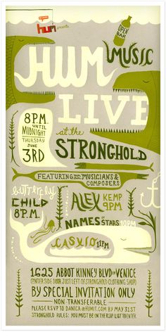 Hum Music Live Poster - Yours, Roxanne