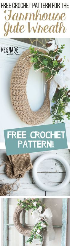 A Free Farmhouse-Inspired Jute Wreath Crochet Pattern — Megmade with Love