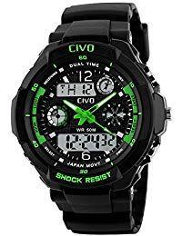 eb738395bba3 Digital Reloj de los Hombres Chicos Electrónico Resistente Contra Agua de  50m Militar Reloj Deportivo LED
