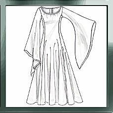 Robe de princesse médiévale (tuto très simple)