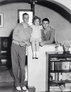 Shirley Temple with her brothers Jack and George.