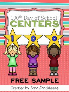 Hundredth Day of School (sometimes called Hundreds Day, day or Day of School) is always a big deal in the classrooms. Here is a fun way to celebrate the day of school. This file contains ten centers to be used in a lower elementary classroom. School Holidays, School Fun, School Days, Middle School, High School, 100th Day Of School, School Stuff, 100 Days Of School Centers, 100. Tag