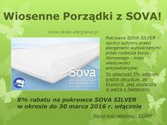 """Zaczynamy akcję """"Wiosenne porządki z Sova"""". Dołącz do nas na www.sklep.alergsova.pl. Czekamy na Ciebie! #porzadki #wiosna #alergia #astma #roztocza #atopowe #promocja"""