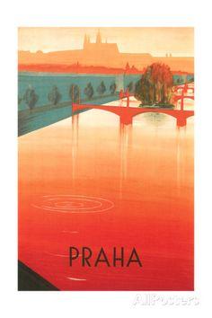 Prague Travel Poster Taidevedos