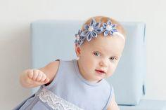 Girl  blue Headband - Light blue flower girl linen  headband  - Flower girl hair accesssories - Special occasion girl head band by PetitDeLin on Etsy https://www.etsy.com/listing/97680057/girl-blue-headband-light-blue-flower