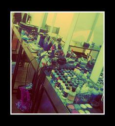 My set up for Halloween #mehron #makeupforever #temptu #occmakeup